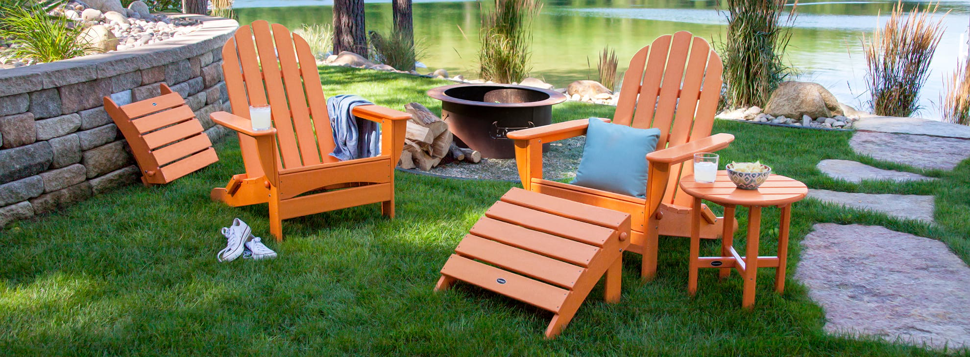 Orange Adirondack Chairs