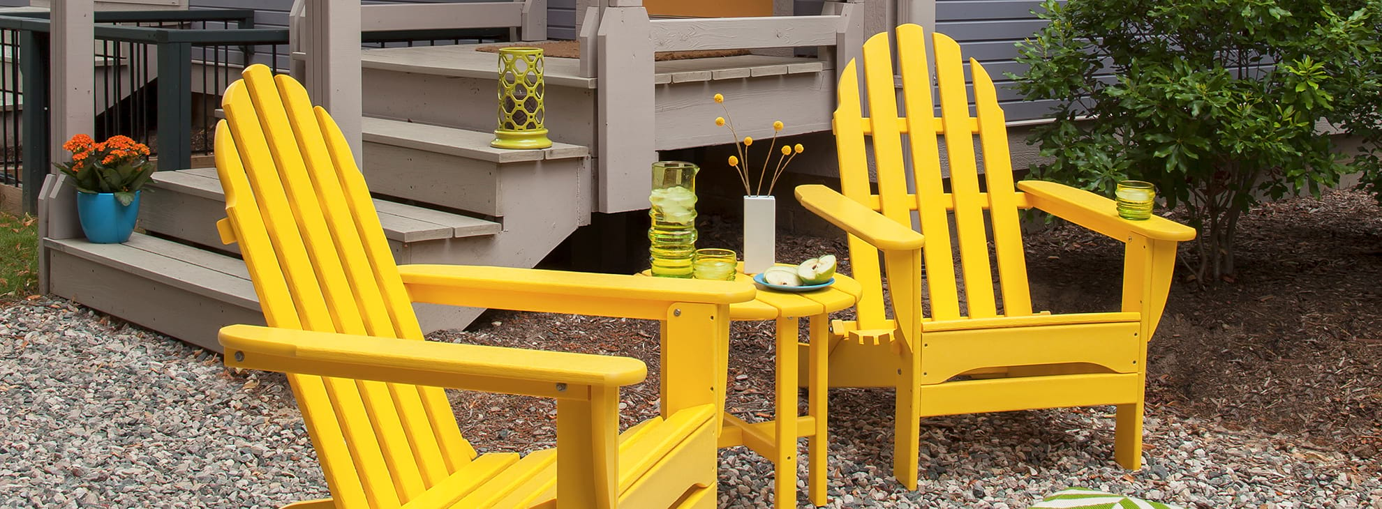 Yellow Adirondack Chairs