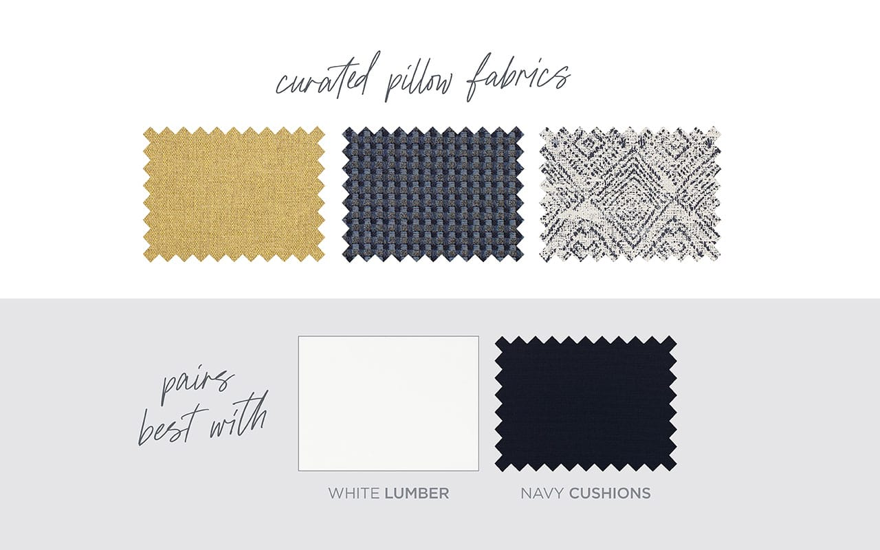 Mordern Nautical curated fabric selection