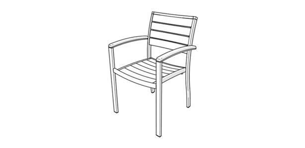 Euro style chair icon