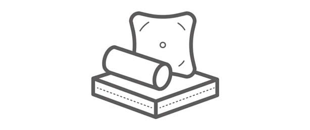 Cushion and pillow icon
