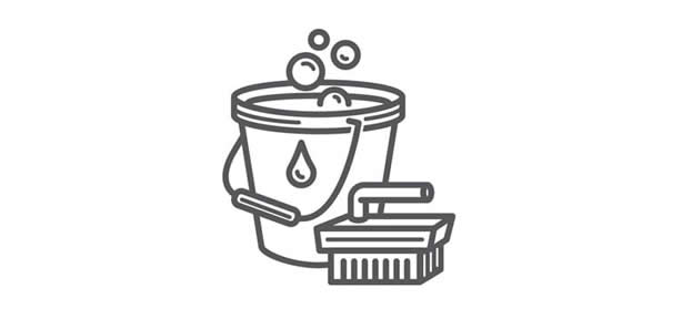 Bucket and brush icon