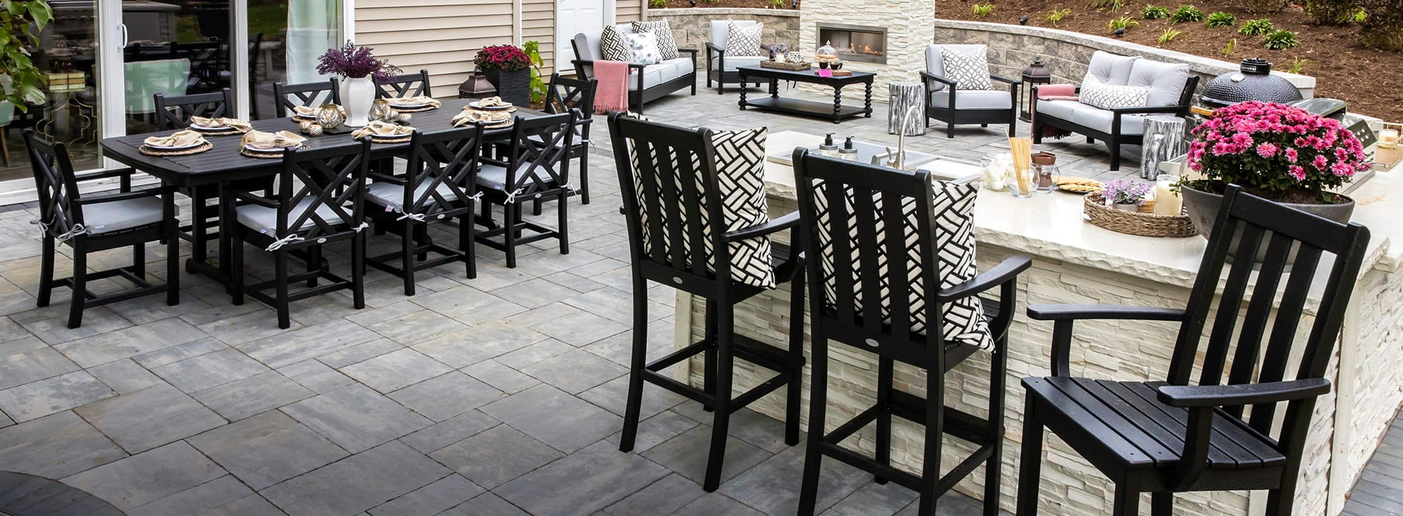 Farah Merhi's outdoor space furnished with POLYWOOD