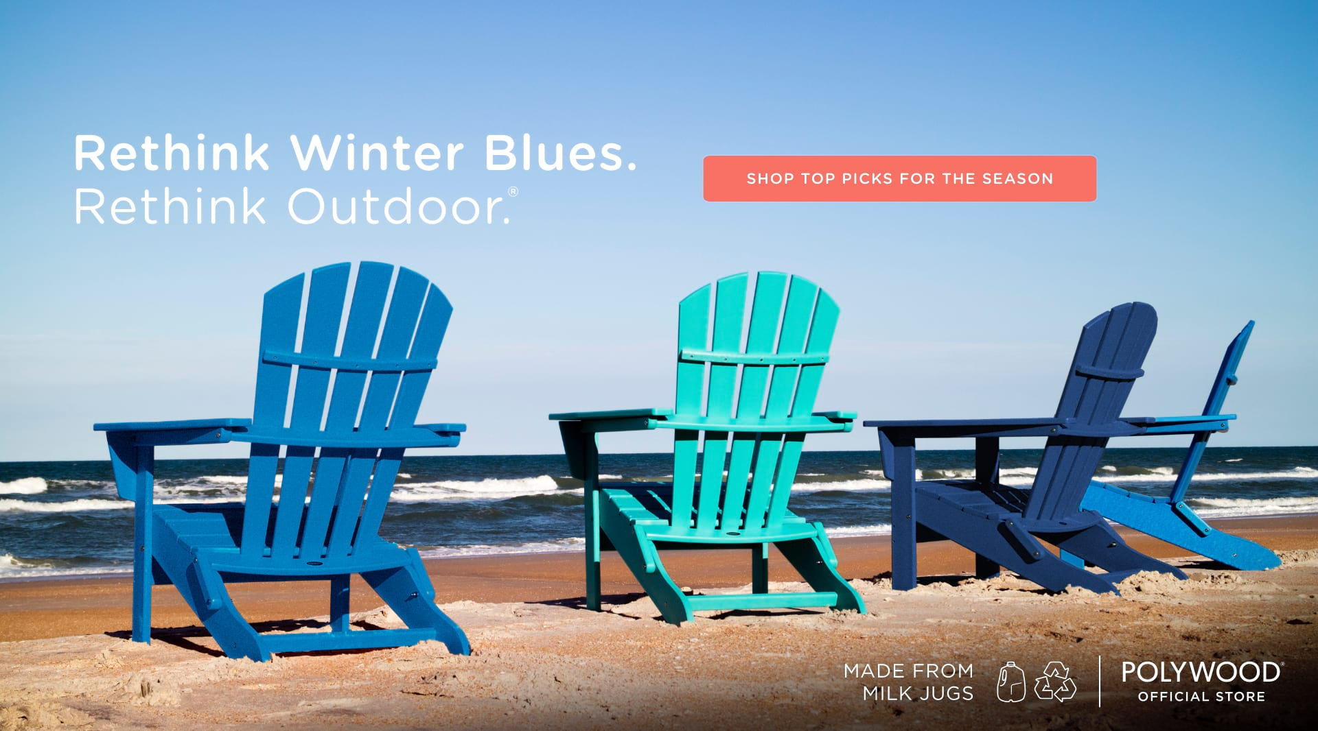 Rethink winter blues. Rethink outdoor - Shop our winter picks