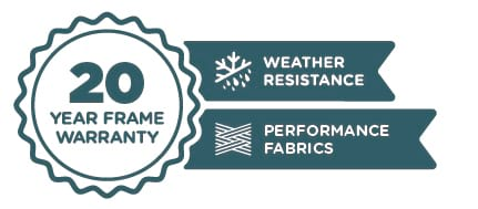 20 Year Frame Warranty | Weather Resistance | Performance Fabrics
