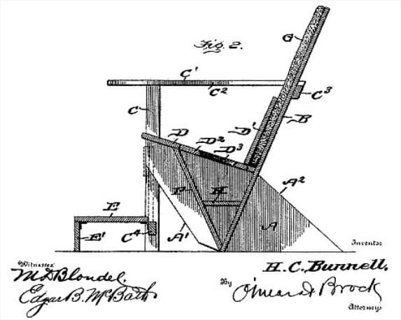 Original Adirondack chair design drawing