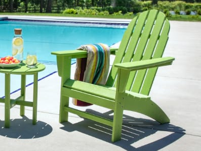 Traditional Adirondack chair in Lime