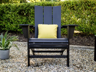 Modern Adirondack chair in Black