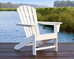 POLYWOOD Adirondack chair in white